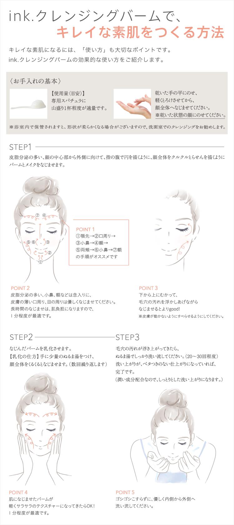 キレイな素肌を作る方法