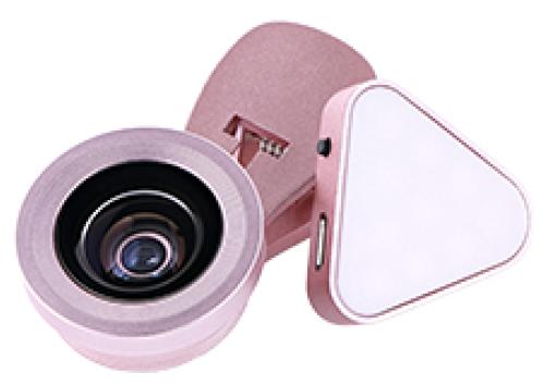 クリップ式自撮りライトレンズ Tolka トルカ USB充電式ライト付き