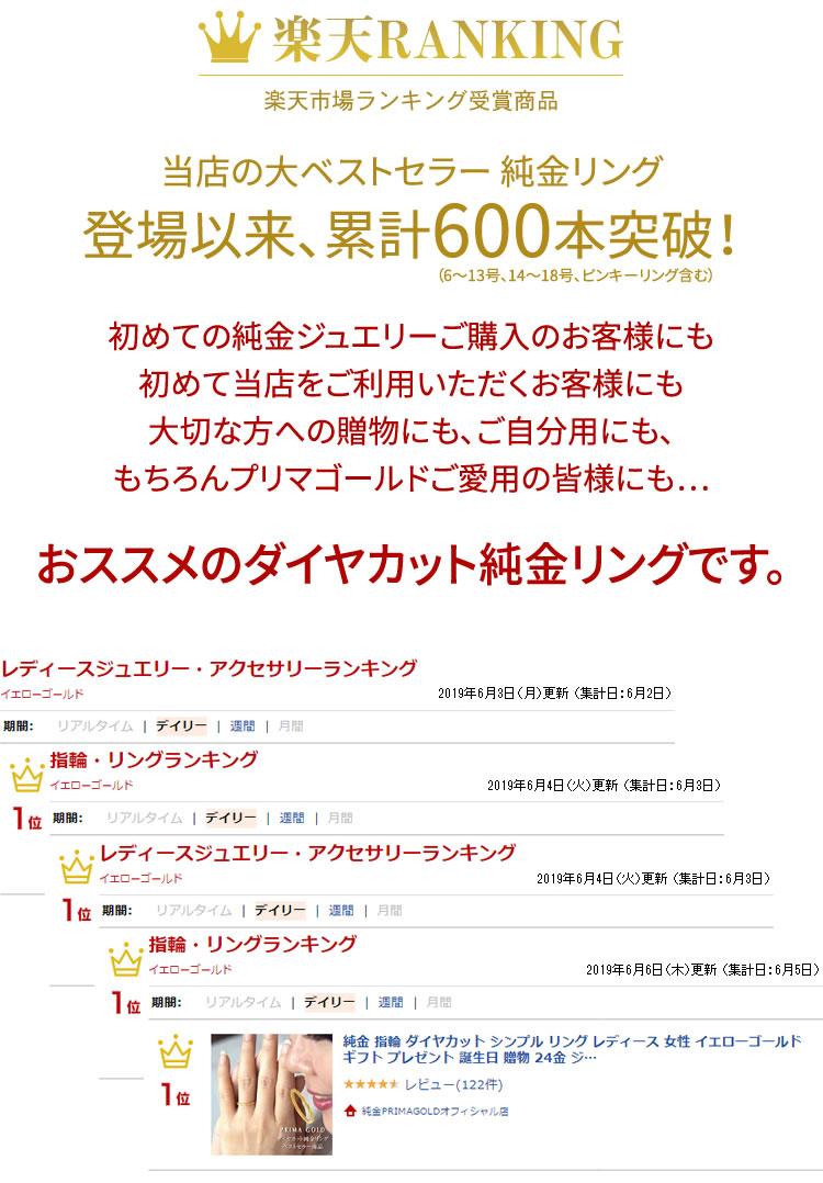 ランキング受賞商品 - 当店の大ベストセラーリング 登場以来、累計400本突破!