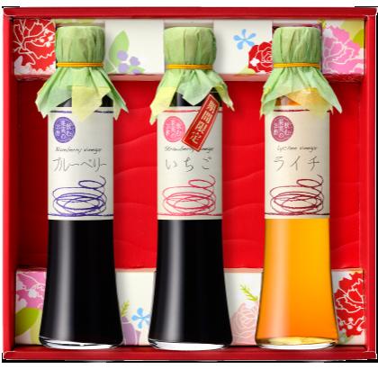 【送料無料(沖縄・離島除く)】飲む果実のお酢 3本ギフトセット(ギフト箱入り)