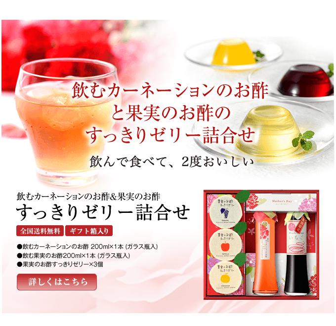 飲めカーネーションのお酢&果実のお酢すっきりゼリー詰め合わせギフトセット