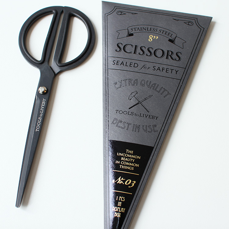 TOOLS to LIVEBY Scissors 8 - BLACK ツールズ トゥ リブバイ シザーズ 8