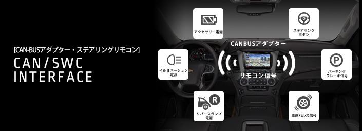 CAN-BUSアダプター / AUDIOインターフェース / STEERINGリモコン