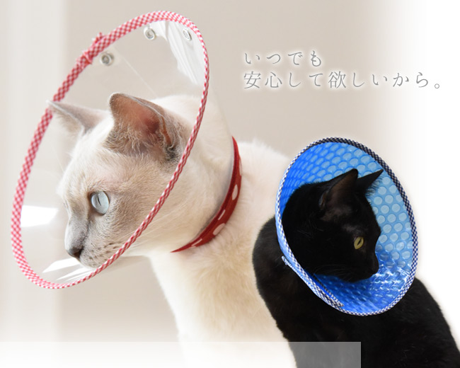 猫用エリザベスカラー ゴロにゃんオリジナルエリザベスカラー 猫の手術後 傷なめ防止に