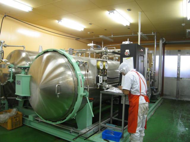 VACEL (バセル) 鶏砂肝角切りレトルト 50g - 6. レトルト加圧加熱処理を行います。