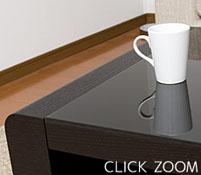 ブラックガラステーブル