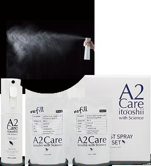A2Care 高機能スプレー空ボトル+リフィル2個セット