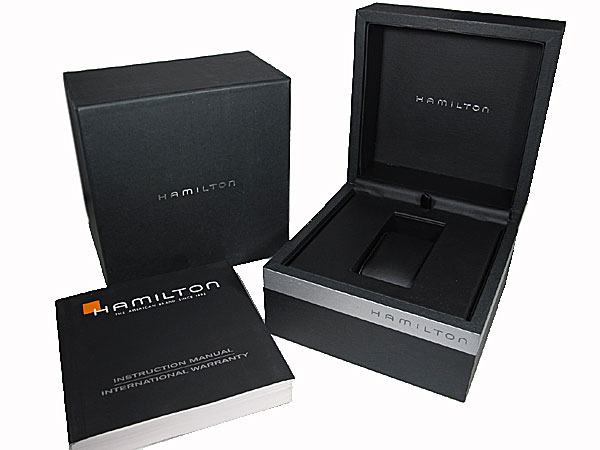 ハミルトン HAMILTON ベンチュラ 自動巻き スイス製 腕時計 H24515591 シルバー×ブラウン レザーベルト 付属品