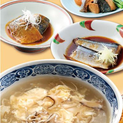 気仙沼ふかひれスープと和風煮魚惣菜詰め合せ