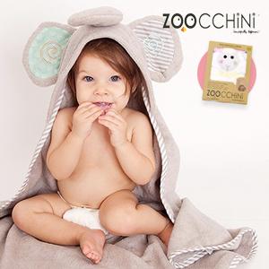zoocchini ベビーフード付きタオル