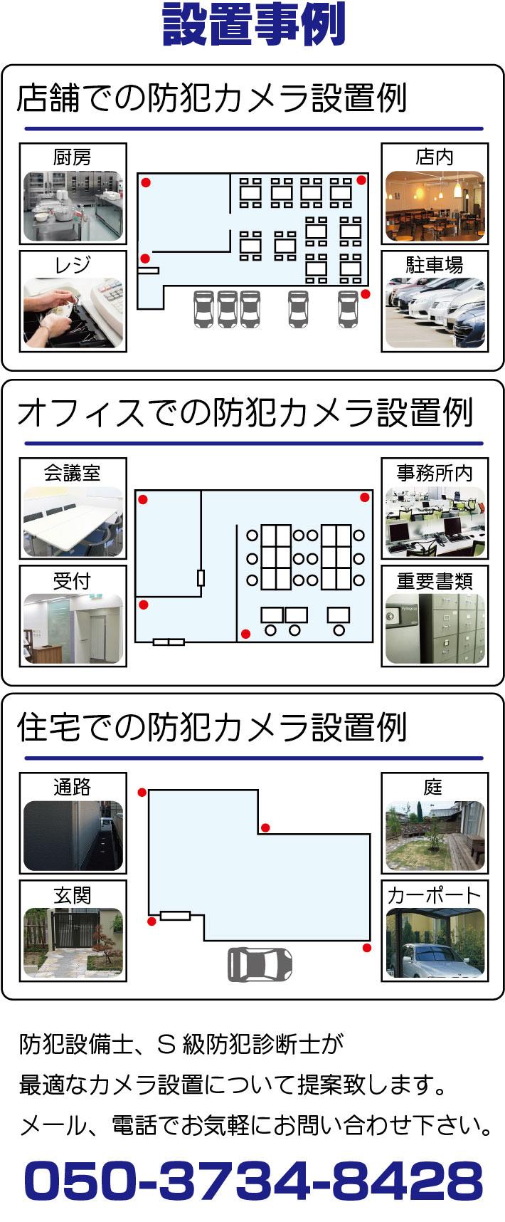 防犯カメラ設置事例