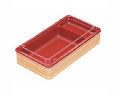 使い捨て 弁当箱 アクタ ワン折 70×37 フチ・B底・透明蓋セット 50組