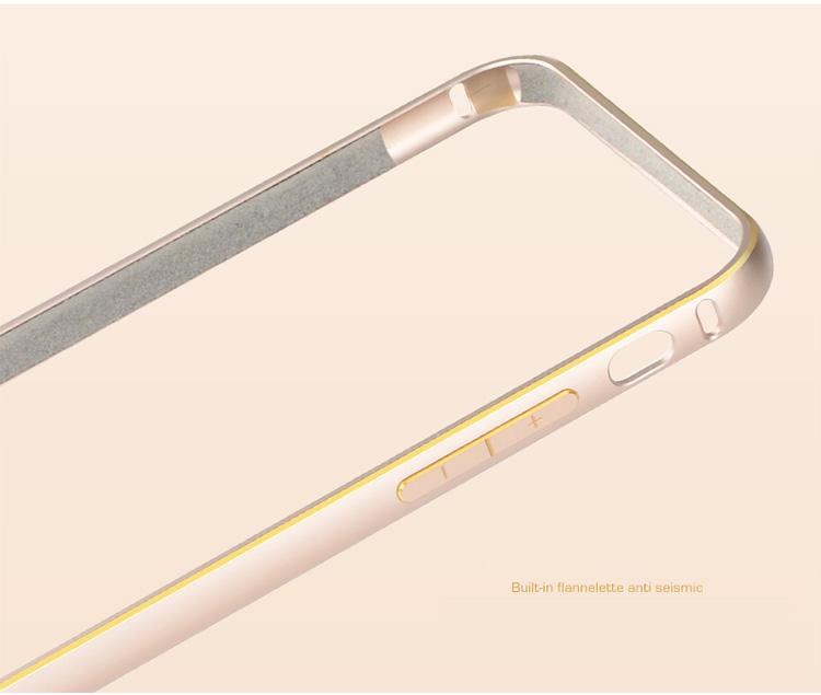 アイフォン6専用 アルミバンパーケース