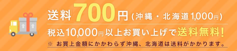 送料700円(一部離島1,000円)/税込10,000円以上お買い上げで送料無料※お買い上げ金額に関わらず、北海道・沖縄県は送料がかかります。