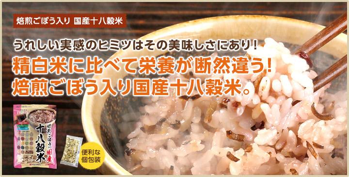焙煎ごぼう入り国産十八穀米1