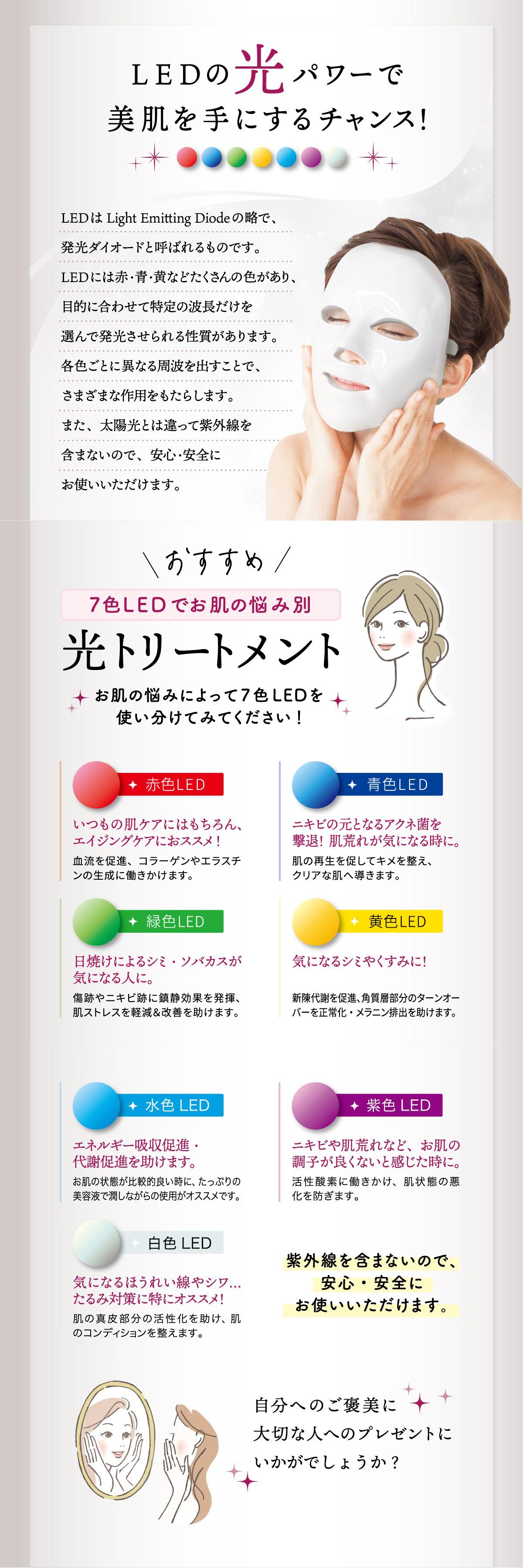 7色LED美容マスク商品画像gold1