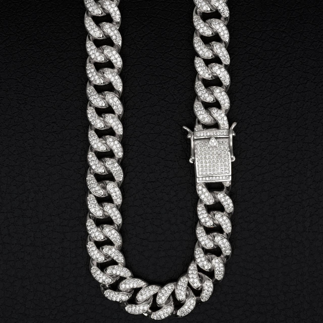 銀の太いネックレス(PROPRE3651)