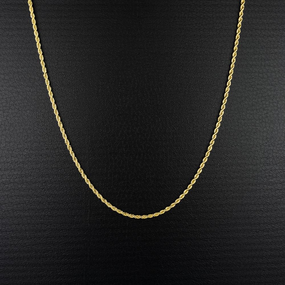 金のロープ状のネックレス(PROPRE3950)