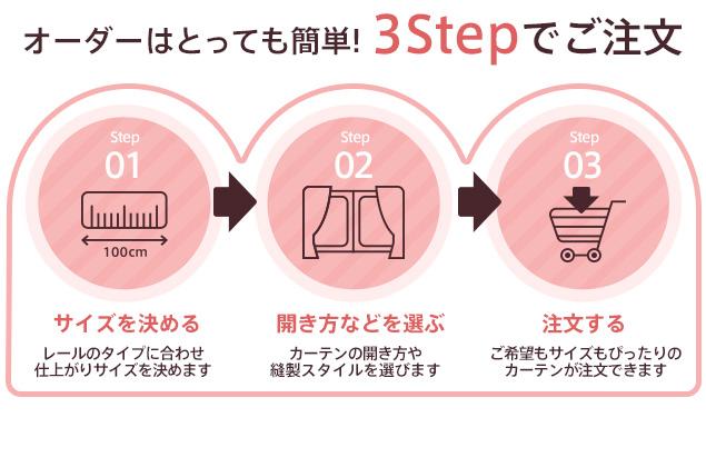 3ステップでご注文