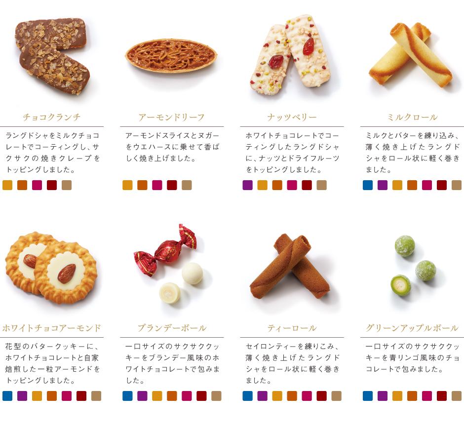 [赤い帽子のお菓子]チョコクランチ/アーモンドリーフ/ナッツベリー/ミルクロール/ホワイトチョコアーモンド/ブランデーボール/ティーロール/グリーンアップルボール