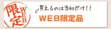 【WEB限定品】買えるのは当社だけ!!