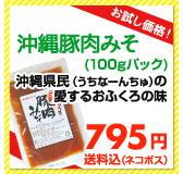 【お試し価格!】沖縄豚肉みそ(100gパック) 沖縄県民(うちなーんちゅ)の愛するおふくろの味 500円送料込(メール便)