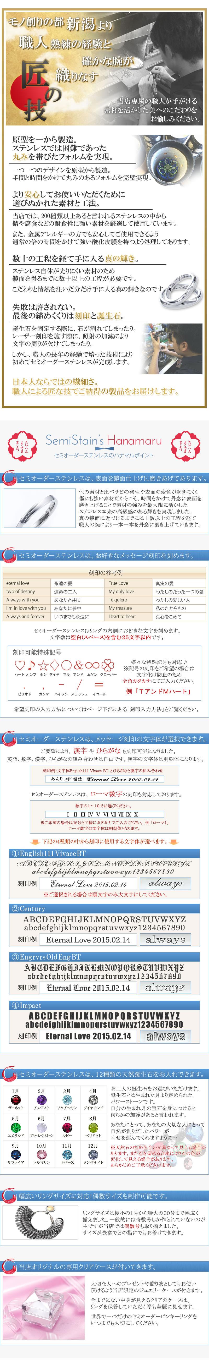 鏡面仕上げ 文字体選択 誕生石選択 1号〜30号まで対応 オリジナルケース