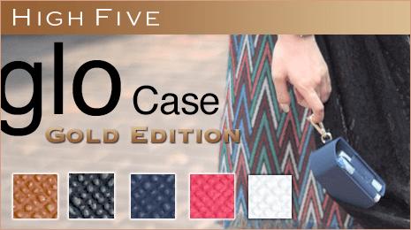 HIGH FIVE glo グロー ケース かわいいポーチ型 便利なカラビナ付き サフィアーノ レザー 電子タバコ ユニセックス 5色 税込 2,678 円 ac-z-0242