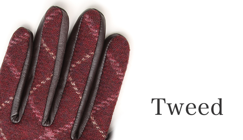 ツィード手袋