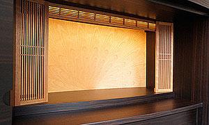 仏壇 舞桜 黒檀 コクタン 上置仏壇 送料無料 ALTAR アルタ
