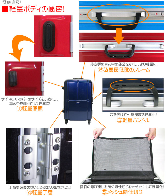 ≪Secret of the suitcase B1260T/moslite light weight≫