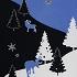 クリスマスの森 青
