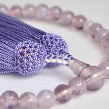 女性用略式念珠 玻璃 藤雲石