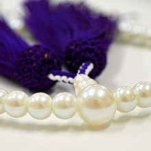 女性用略式念珠 玻璃 パール
