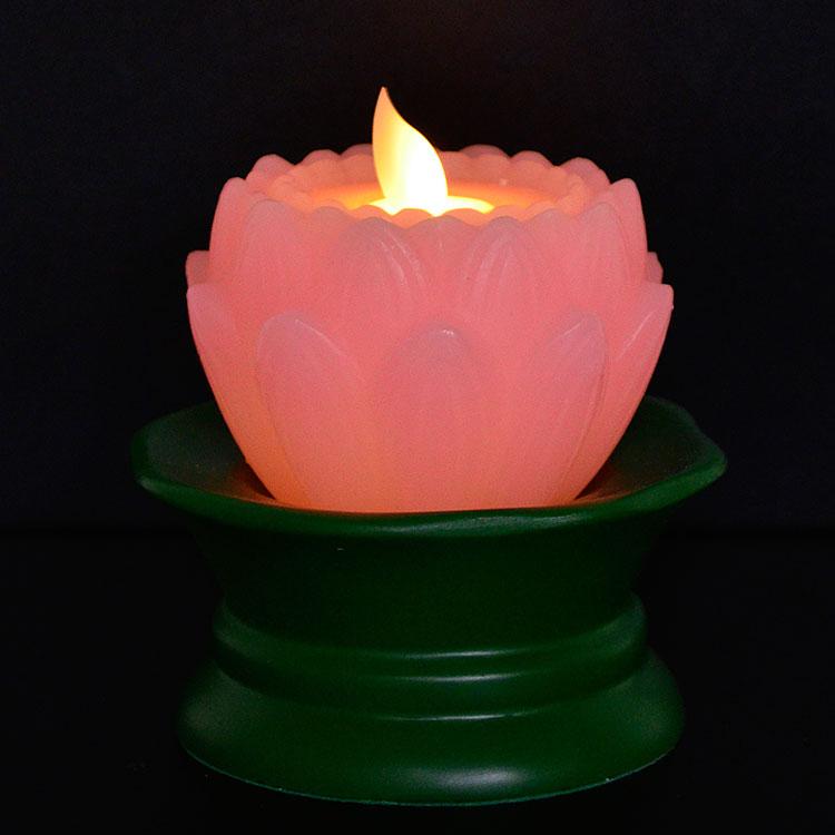 LEDろうそく LEDキャンドル 蓮 蓮型ろうそく 仏壇 仏具 お盆 お彼岸 年末年始 進物 ギフト 盆提灯