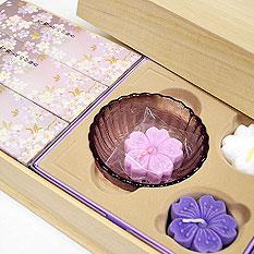 淡墨の桜 浮きローソクセット