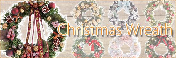 クリスマスリース 飾り付き