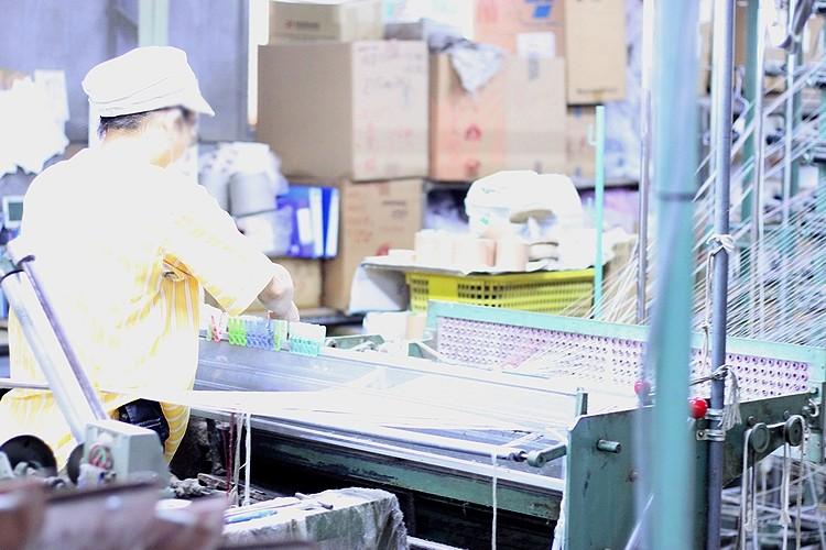 リネン工場職人の写真