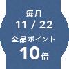 毎月11/22ポイント10倍