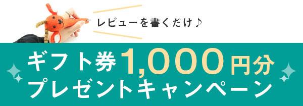 レビューを書くだけ!ギフト券1000円分プレゼントキャンペーン