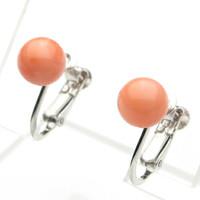 ピンク珊瑚7ミリ玉SVイヤリング
