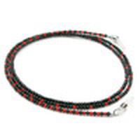赤珊瑚&ブラックスピネルのメガネチェーン(グラスコード)