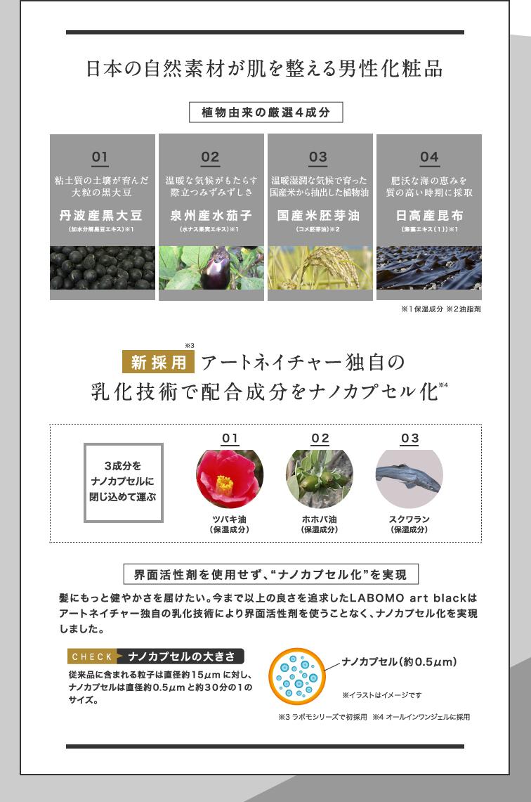 日本の自然素材が肌を整える男性化粧品