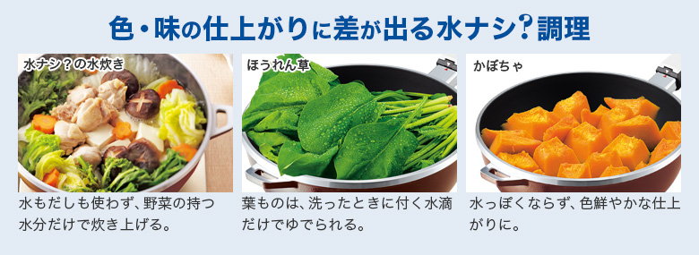 色・味の仕上がりに差が出る水ナシ?調理