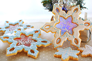 雪の結晶クッキー型 ステンドグラスクッキー