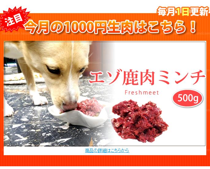 天然 エゾ鹿生肉 ミンチ