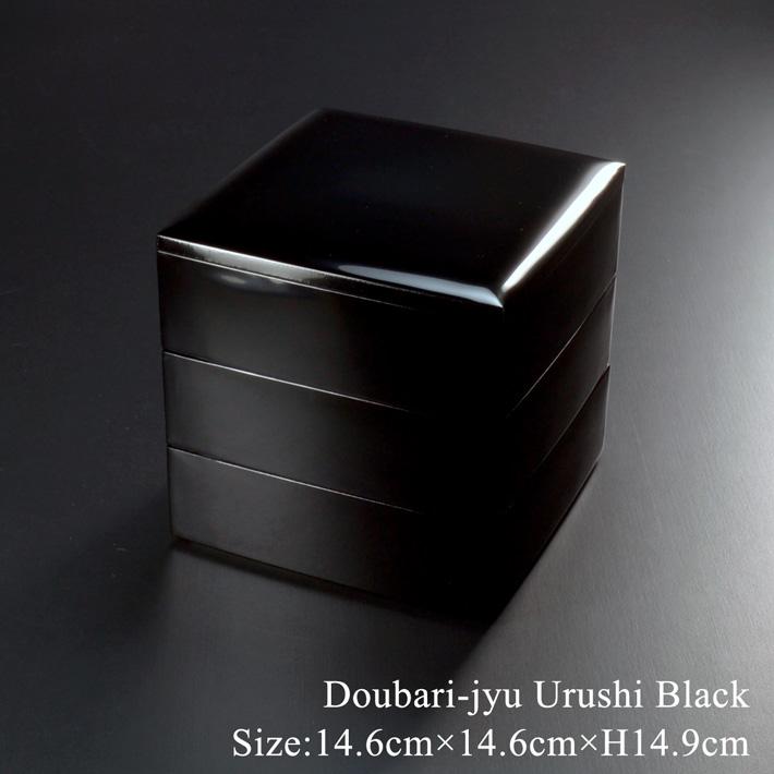 5寸胴張り 重箱 黒