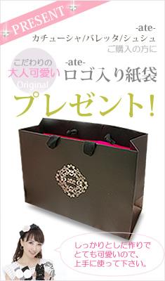 商品レビュー記入でオリジナルロゴ入り紙袋プレゼント!!