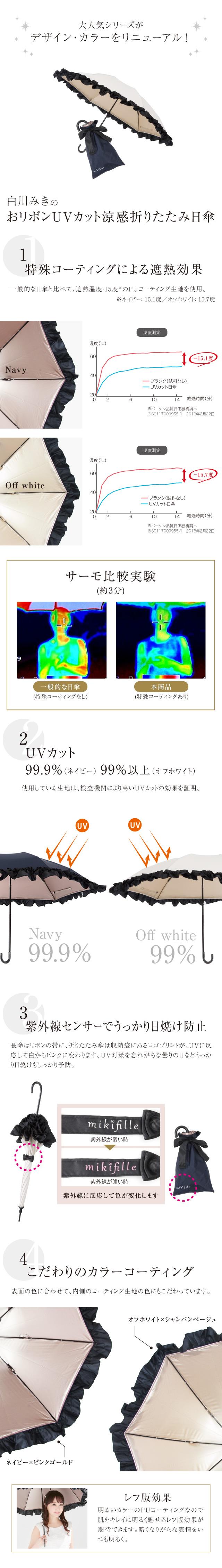ミキフィール UVカット日傘