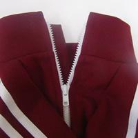 パグ学生ジャージの赤ワインレッド犬服